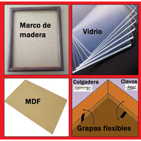8 Marcos Madera, Carta: 8.46x11, 21.5x28cm. Todo Incluido