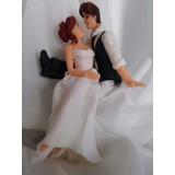 Adorno Marido Y Mujer Recien Casados Porcelana Fria