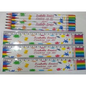 80 Lápis E Régua Personalizado Formatura
