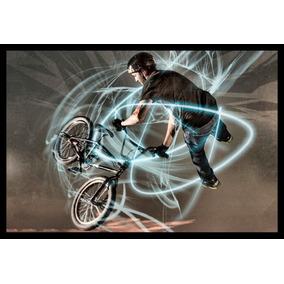 Quadro Bike Bmx Manobra Arte Poster Moldurado