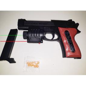 Pistola Lanza Balines De Juguete Con Laser Y Linterna 18 Cm