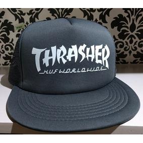 Gorra Visera Plana Trucker Custom Thrasher Huf Gris Vinyl.   260 13. Envío  a todo el país e5f5b9560c9