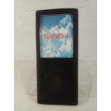 Capa Silicone Preta Nano 4 4º Geração Apple Ipod