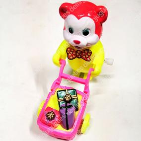 Muñeco A Cuerda Animalitos + Carretilla ¡nuevos! Blister