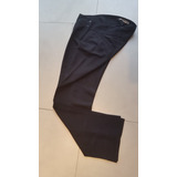 Pantalon Mujer De Tela Rasada Color Negro Talle 42