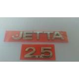 Emblema Jetta + 2.5 Cromado 2 Peças ( 2005/2010 )