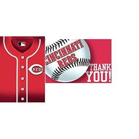 Licensedmlb Cincinnati Reds Party Postcard Invitación Y Gra