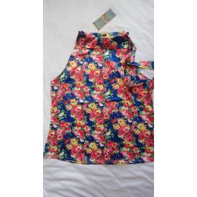Hermosa Blusa Camisa Seda Chinita Talla Xl Nueva
