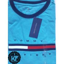 Camiseta Básica Gola Redonda Estampa Tommy Hilfiger Original
