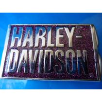 Fivela Para Cinto Harley Davidson Cromado E Pink 2006 Origin