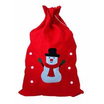 Saco De Presentes Papai Noel Natal - Grande 70x48cm