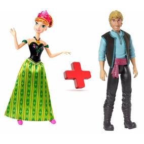 Boneca Ana Musical Frozen Disney + Kristoff Mattel Original