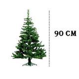 Árvore De Natal Pinheiro 90 Cm Verde Decoração Natal