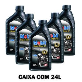 Caixa De Óleo 24l Móbil Super Moto 4t 20w50 Mineral Atacado
