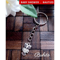 Recuerdos Bautizo Baby Shower Buhos Buhitos Llaveros Mini