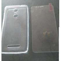 Funda Tpu Xiaomi Redmi Note 3 Kate Se + Vidrio 9h Coppel