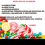 Mesa Dulce Personalizada 25 Chicos Super Oferta $1087!!!!