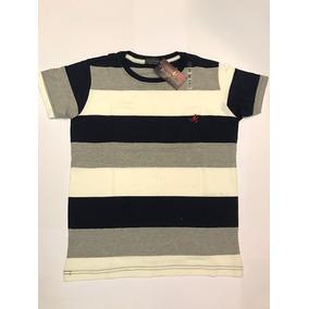 Camisa Camiseta Masculina Da Brooksfield Listrada - Original