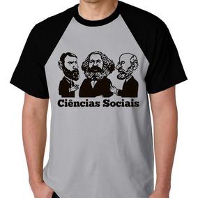 Camiseta Raglan Unissex Frete Grátis Ciências Sociais Camisa