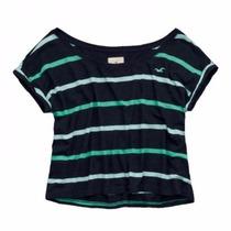 Camiseta Hollister Feminina 100% Original - Tam: G/l - P7