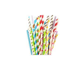 Popotes Decorados Papel Colores Y Diseños (25 Piezas)