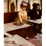Absinto Bebida Restaurante Bar Drink Pintor Degas Tela Repro