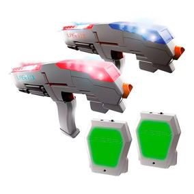 Laser X Dupla 2 Armas + 2 Coletes Jogo Arma Game De Combate