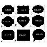 Paquete De 48 Etiquetas Tipo Pizarrón Para Bodas Y Eventos