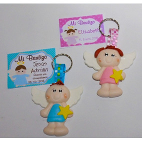 Recuerditos Llaveros Angelitos Pasta Francesa Flexible