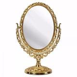 Espelho Maquiagem Provençal Retro Grande De Mesa Grande Show