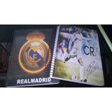 2 Cadernos 1 Materia Com Adesivos Real Madrid