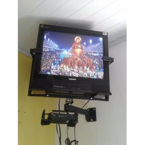 Tv 21p Tela Plana Com Covenssôr Digital E Suporte Parede