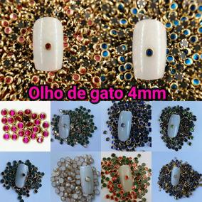 Pedrarias Olho De Gato 3mm 4 Mm Caviar Strass Meia