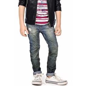 Lote C/3 Calças Jeans Masculina Infantil Skinny Envio Rapido