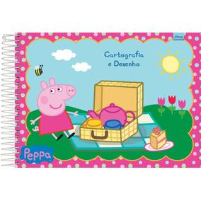 Caderno Desenho Univ Capa Dura Peppa Pig 96f Espiral C/5