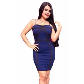 Vestido Azul Corto Coctel Antro Fiesta Talla 9 G Strech