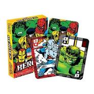 2 Set De Naipe O Cartas Ingles De Heroes De Marvel Comics