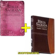Kit 02 Bíblias Sagrada Grande Harpa Cristã E Zíper 14x21