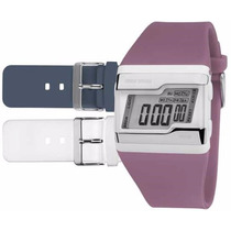 Relógio Mormaii Digital Kit Troca Pulseira Fzu/8c Novo