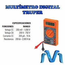 Multimetro Digital Escolar Voltaje Corriente Truper