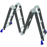 Escada De Ferro Aço E Aluminio Multi Uso 4x3 Dobravel Articu
