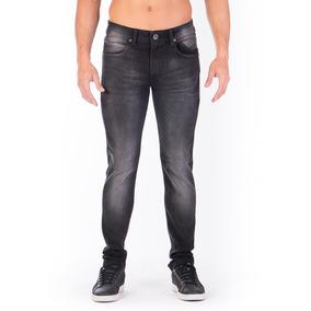 Pantalón Jeans Mezclilla Negro Deslavado Skinny