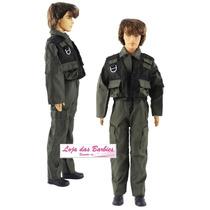 Roupa Militar P/ Boneco Ken ( Barbie ) Falcon Max Steel *07
