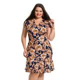 Vestido Plus Size Com Transpasse Em Jersey Acetinado