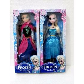 Boneca Frozen Elsa Ana Disney E Olaf Musical