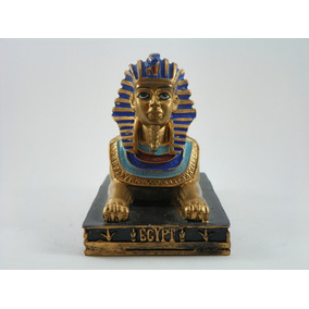 Escultura Esfinge De Gizé Dourada Resina