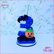 Vela Aniversario Em Biscuit,personagens Abobora Halloween