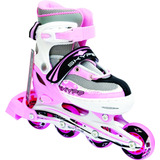 Patines Rollers Skype Extensible Rosa Rosario