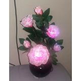 Flor Luminosa En Vaso ¿ Led