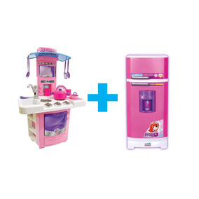 Kit Cozinha Infantil Fogaozinho + Geladeira Super Mágica8052